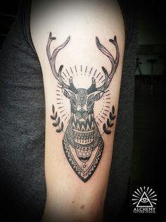 Deer head - Alchemy tattoo