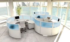 Shop our best in class modern office furniture for commercial office spaces including modern cubicles, sit stand desks & more. Browse the latest furniture trends! Office Cubicle Design, Modern Office Design, Contemporary Office, Modular Workstations, Office Workstations, Office Cubicles, Executive Office Furniture, Commercial Office Furniture, Creative Office Space