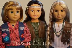 Flossie Potter Favorite Fringed Vest Doll Clothes Pattern 18 inch American Girl Dolls | Pixie Faire