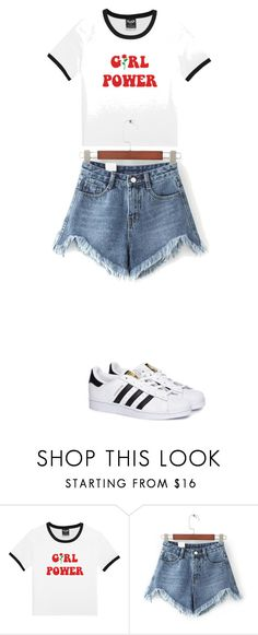 """Sin título #267"" by karenrodriguez-iv on Polyvore featuring moda, WithChic y adidas"