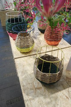 Planters? Vases? Baskets? Who cares, they are beautiful