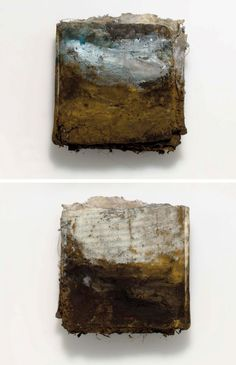 Landscape Book artist book sunset paintings  made to by KKA12
