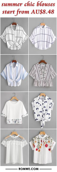 summer chic blouses from AU$8.48
