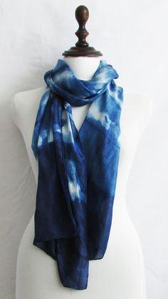 shibori scarves for sales alashi shibori scarf by Indigowares