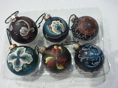 Norwegian Rosemaled Christmas Ornaments. Repinned by www.mygrowingtraditions.com