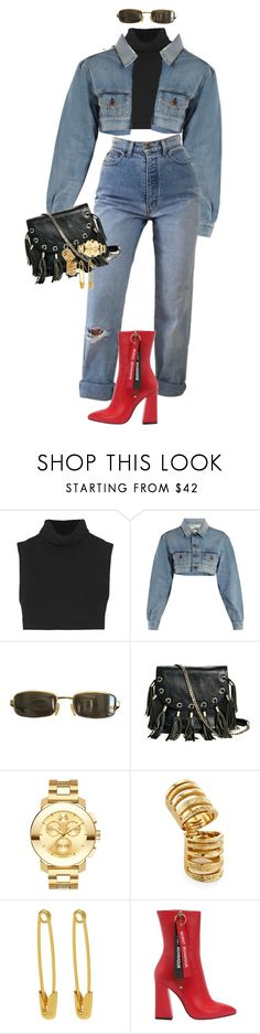 """#90"" by cryscrystalnyc ❤ liked on Polyvore featuring Victoria Beckham, Off-White, Tom Ford, GUESS by Marciano, Movado, Pamela Love and Havva"