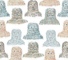 hirsute or hairsuit. Love Illustration, Digital Illustration, Textile Patterns, Print Patterns, Friends Show, Pattern And Decoration, Stuffed Animal Patterns, Interiores Design, Surface Design