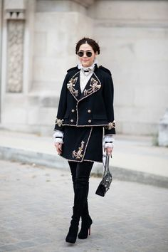Chompoo Araya A. Hargate in Chanel - Paris Fall 2015 Couture Week - July 2015