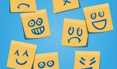 Yellow post-it with emotion faces Free Vector Monogram Wedding, Monogram Logo, Emotion Faces, Er 5, Serotonin Levels, Emoticons, Information Age, Coping Skills, Emotional Intelligence