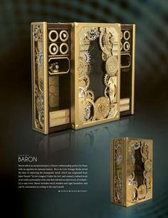 Boca de Lobo Design Studio designed a luxurious safe inspired by the  #steampunk trend originating from Jules Vernes' 20,000 leagues under the sea. A unique piece for any opulent interior.