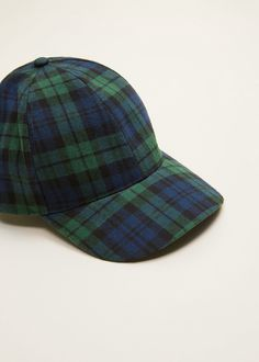 2502e6839f3 Mango Plaid Cap - Navy One Size Dry Cleaning