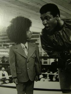 Muhammad Ali and in very young Michael Jackson