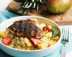 AdvoCare PA Champions: Jerk Chicken with Caribbean Quinoa Recipe. #advocare www.advocare.com/1308303 #chicken #advocarepachampions #Caribbean