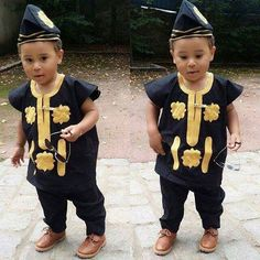 These are hot senator specials outfits for the kids. Get your kids one of these hot senator designs for the big boys and they will never forget you. Baby African Clothes, African Dresses For Kids, African Babies, African Clothing For Men, African Shirts, African Children, African Men Fashion, African Fashion Dresses, Boy Clothing