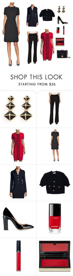 """""""For Moffett"""" by scolab ❤ liked on Polyvore featuring St. John, Valentino, Chanel, Armani Beauty and Kevyn Aucoin"""