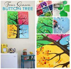 Four seasons button tree