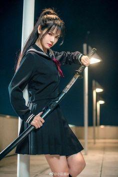 Samurai Girl Wallpaper for android Asian Woman, Asian Girl, Japonese Girl, Tmblr Girl, Sword Poses, Female Samurai, Samurai Warrior, Katana Girl, Japanese Warrior