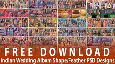 Free Download 20 Indian Wedding Album Shape/Feather PSD Designs   By Stu...