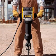 The DEWALT® Pavement Breaker is ideal for general concrete, sidewalk and road demolition, plus ground-rod driving and basement waterproofing. Features SHOCKS Active Vibration Control to reduce user fatigue and increases comfort and productivity.