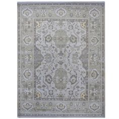 Herat Oriental Indo Hand-knotted Tribal Oushak Wool Rug