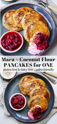 Maca Coconut Flour Pancakes for One