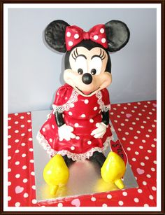 Minnie Mouse 3 D cake. - This is Minnie Mouse 3 D cake i made for my daughter. It was such a fun, I am pretty glad with the result :-)