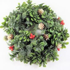 Excited to share the latest addition to my #etsy shop: Green #Holly #Candle Ring Accent Red Berries Pine Cones Plastic #Holiday #Decor http://etsy.me/2ANqFul #vintage #etagereantiques #vintagedecor