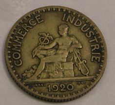 1920 France French 1 Franc Bon Pour Coin Free by OlyTrader on Etsy
