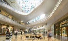 Silkroad rendering for shopping mall interior