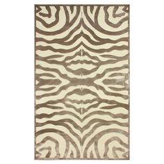featuring a chic zebra print motif in a lovely cream palette this art silk rug chic zebra print rug