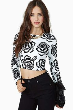 Shady Rose Crop Top
