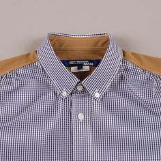 Junya Watanabe Man Gingham Check Oxford Shirt - Blue/White
