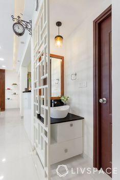 Indian Home Interior, Indian Home Decor, Indian Home Design, Home Room Design, Bathroom Interior Design, House Design, Home Decor Furniture, Furniture Design, Washbasin Design