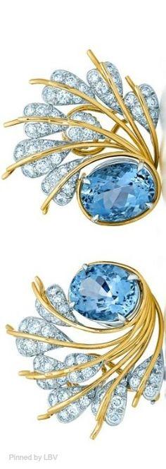 Tiffany & Co. Schlumberger Seven Leaves Ear Clips | LBV ♥✤ | BeStayElegant