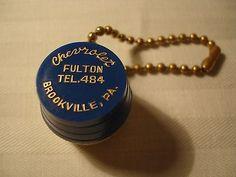 Vintage Spring Coin Holder barrel Fulton Chevrolet Brookville Pa.