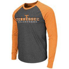 Tennessee Volunteers Colosseum Tailback Raglan Long Sleeve T-Shirt - Charcoal