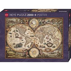 Old world map jigsaw puzzle sciox Choice Image