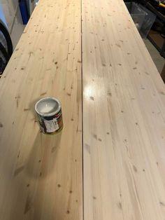 Spisebord - DIY   HVITELINJER Exterior Design, Interior And Exterior, Kitchen Interior, Diy And Crafts, Dining Table, Home Appliances, Living Room, Wood, House