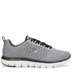 Skechers Mens Flex Advantage 2.0 The Happs X-Wide Memory Foam Sneakers (Grey/Black) - 14.0 4E