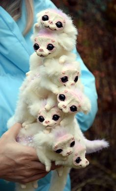 I don't know what they are, but they are adorable. Cute Creatures, Magical Creatures, Fantasy Creatures, Beautiful Creatures, Felt Animals, Baby Animals, Cute Animals, Mystical Animals, Dragons