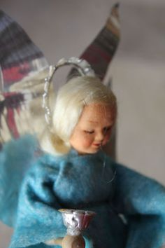 Ronnaug Petterssen Silent Night RARE Boxed Original Felt Clockwork Angel   eBay