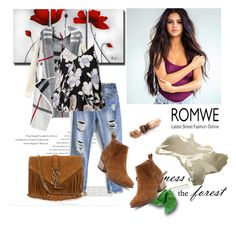 """Romwe (2) 2"" by aida-1999 ❤ liked on Polyvore featuring Balenciaga, Ally Fashion and Yves Saint Laurent"