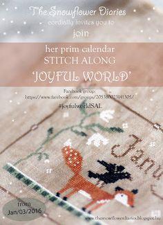 The Snowflower Diaries - Joyful World SAL 2016