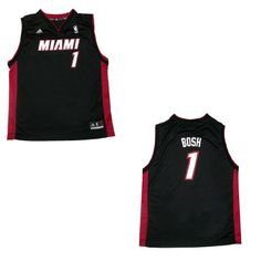 Boys' Cycling Vests - NBA Miami Heat Bosh 1 Youth  Boys Athletic Comfortable Fit Sleeveless Jersey Shirt  Vest  Black Size XL *** More info could be found at the image url.