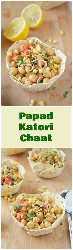 Try out this papad katoris that are filled with a protein packed delicious salad #appetizer