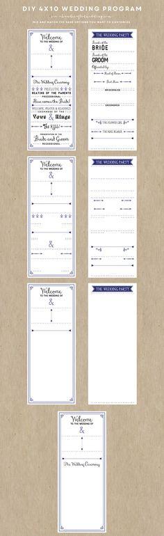 Wedding Program Templates Free -African Program Samples - wedding brochure template