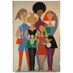 Alexander Girard, GIRLS, Herman Miller 1972 | From a unique collection of antique and modern tapestries at http://www.1stdibs.com/furniture/wall-decorations/tapestry/