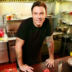 Chuck Hughes? Yes, please. Not only can the man cook, but he's got tattoos and a cute gap in his teeth.