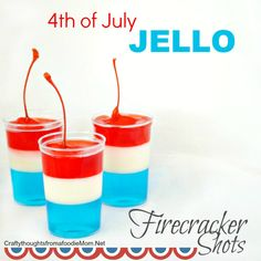 Nothing screams party like a jello shot and these easy to make Firecracker 4th of July Jello Shots are no exception! I've always had an obsession with firecrackers.  I know they aren't pretty or sp…