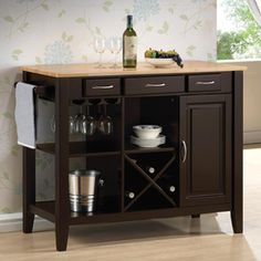 Coaster Fine Furniture 43.25-in x 36-in Rubberwood Rectangle Mini Bar
